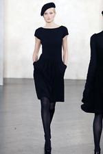 VALENTINO Black Knit Bow Neckline Dress (retail £1,650)