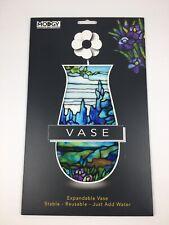 Modgy Plastic Expandable Vase ~ Tiffany Iris Landscape BPA Free Home ~ Reusable