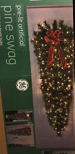 Pre-Lit Artificial 60in Pine Swag w/ 150 Bulbs For Christmas Holiday Door Entry