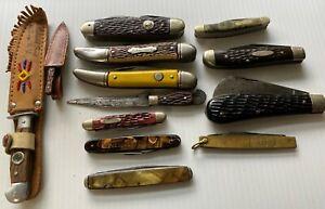 Vintage Pocket Knife Lot - Camillus, Schrade, Ulster, Colonial, Robeson Shuredge
