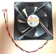 Y.S. TECH 90x90x25mm DC12V 3-pin fan, Model# FD129225EB, 0.47A