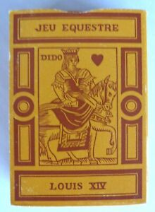 Jeu Equestre Louis XIV Playing Cards Complete Used
