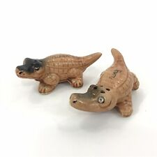 Vintage Alligator Salt Pepper Shakers Florida Souvenirs Beach Crocodile