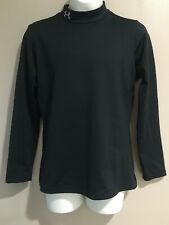 Boys UNDER ARMOUR YLG Coldgear Mock 14-16 Fitted Black Fleece Lined Shirt LS
