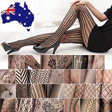 Fishnet Pattern Jacquard Stockings Black Fashion Sexy Women Pantyhose Tights