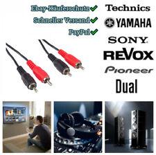 2m Cinch Kabel rot weiß RCA Stecker 2x Chinch Kabel DVD HiFi Stereo TV Kamera ?