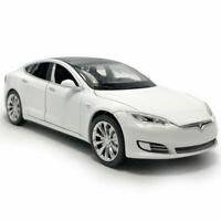 1:32 Tesla Model S 100D Die Cast Modellauto Auto Spielzeug Ton & Licht Weiß