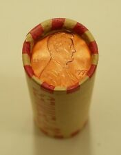 1997 D Lincoln Memorial Cent Red Brilliant Uncirculated 1 Roll