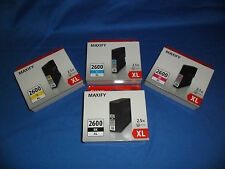 GENUINE CANON OFFICE MAXIFY PGI-2600XL INK CARTRIDGES - SET OF 4 -  HIGH YIELD