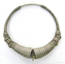 Rare! vintage antique ethnic tribal old silver neckring necklace Rajasthan India