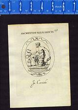 Kneeling Man Sacrificing Serpent- Leonardo Agostini-Battista -1685 Engraving