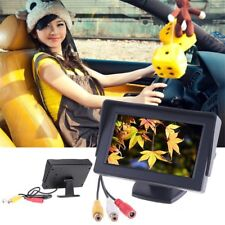"""NEW 4.3"""" TFT LCD Car Monitor With Reverse Rearview Color Camera DVD VCR CCTV WSE"""