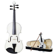 New 1/8 Size White Violin + Case+ Bow + Rosin for Kids 4-5 Years old Promotion