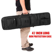 "CVLIFE 47"" Long Black 600D Soft Padded Gun Case AR Hunting Bag Rifle Storage"