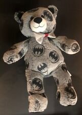 "Build a Bear Batman Superhero Themed Teddy DC Comics Plush Stuffed Gray 17"""