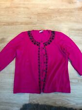 Country Casuals Large Cardigan Pink