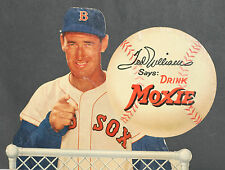 RARE 1950's Ted Williams Moxie Counter Cardboard Display, Small Version 16 x 12