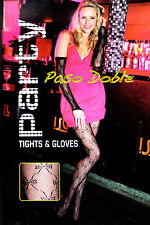 Luxury Bow Lace Tights/Pantyhose with Matching Gloves! CHRISTMAS/NEW YEAR PARTY