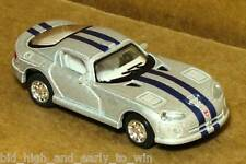 SILVER DODGE VIPER GTSR 1/72 SCALE DIE CAST NICE & NEW