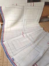 Vintage Hmong Hemp Light White Textile Ethnic Craft Supplies