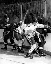 Gordie Howe, Maurice Richard Detroit Montreal Auction 8x10 Photo