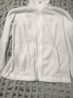 Columbia Women's Jacket Classic White Size Small S Fleece Zip Front
