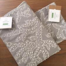 "Pottery Barn Gray Coral Embroidered 22"" Pillow Cover Beach Nautical Ocean Sea"