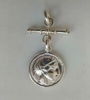Sterling Silver Alexander The Great Greek Coin On Fob Pendant