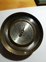 Vintage Endura Heavy Brass Barometer Antique Barometer Storm Gauge Germany