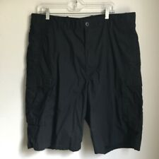 LEVI STRAUSS Men Cargo Shorts Size 38 Black Cotton Polyester