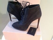 Burberry Leather Ankle Boots Booties HEELS Lase Up Platform 39 $895