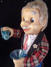Ancien jouet automate battery toy serveur drinking man yone japan années 60