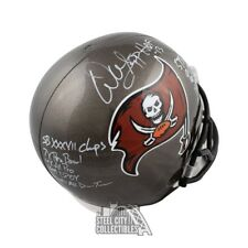 Warren Sapp Autographed Buccaneers Full-Size Football Helmet BAS 10 Inscriptions
