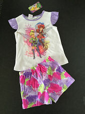 BNWT Girls Sz 4 Pretty Disney Fairies Short Summer Style Stretch PJ Pyjamas