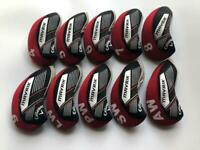 10PCS Golf Iron Headcovers for Callaway Mavrik Club Covers 4-LW Red&Black R/H