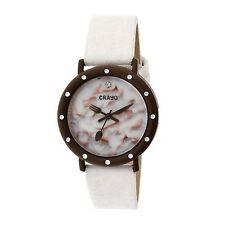 NEW Crayo CR2106 Unisex Analog Slice Of Time Meringue Pie Dial Brown/White Watch