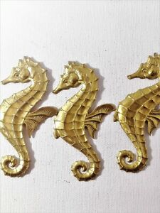 Brass Seahorse Stamping Furnture Jewellery Making Craft Design CLEARANCE  RB305