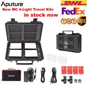 Aputure AL-MC 4-Light Travel Kits LED RGB Light 3200K-6500K + Charge Case