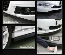 Black Side Skirts Lip Rubber Splitter Chin Trim Body Kit for Car Exterior