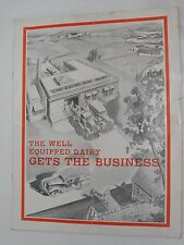 VINTAGE 1930s ELECTRO-PASTEURIZER/ELECTRO-PURE DAIRY ADVERTISING BROCHURE! MILK!