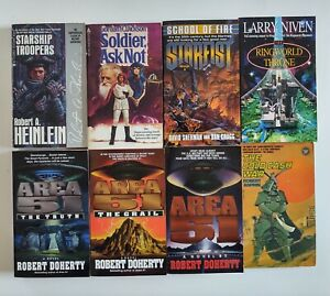 Lot 16 Science Fiction PB books Heinlein Niven Pournelle Donegan Doherty more