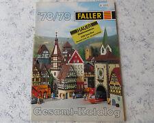 Faller -- Modellbau Jahres Katalog 78/79