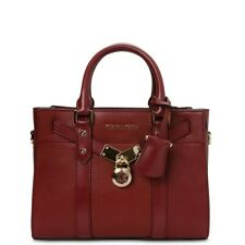 MICHAEL KORS  Nouveau Hamilton Leather Satchel Bag-BRANDY
