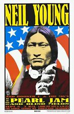 Neil Young 1 - Concert VINTAGE BAND POSTERS Song Rock Travel Old Advert #ob