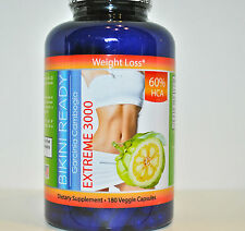GARCINIA CAMBOGIA EXTRACT 100% PURE ORIGINAL EXTREME Weight Loss 3000mg 60% HCA