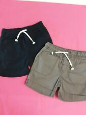 Lot X2 Cat & Jack Infants Shorts Blue & Gray W/Elastic Waist & String Size 12 M