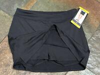 0421 TRANQUILITY Small BLACK Tennis Golf Skirt Skort NWT B