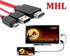 MHL Micro USB to 1080P HDMI HDTV AV TV Cable Adapter For Samsung Galaxy S3 S4 UK