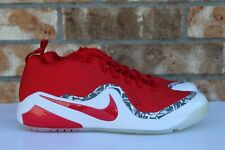 2be814a5e5c689 Men s Nike Zoom Trout 4 Turf TF Baseball Shoes White Red Gray Camo 917838  661