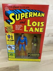 Superman & Lois Lane DC Direct Comic Book Deluxe Action Figure Set New Sealed